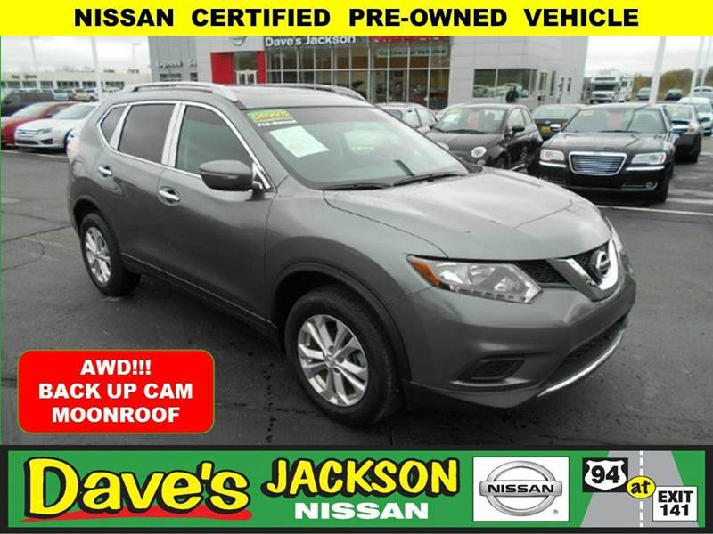 2015 NISSAN ROGUE SV AWD 4DR CROSSOVER gun metal 3000 push pull or drag reflected in the price