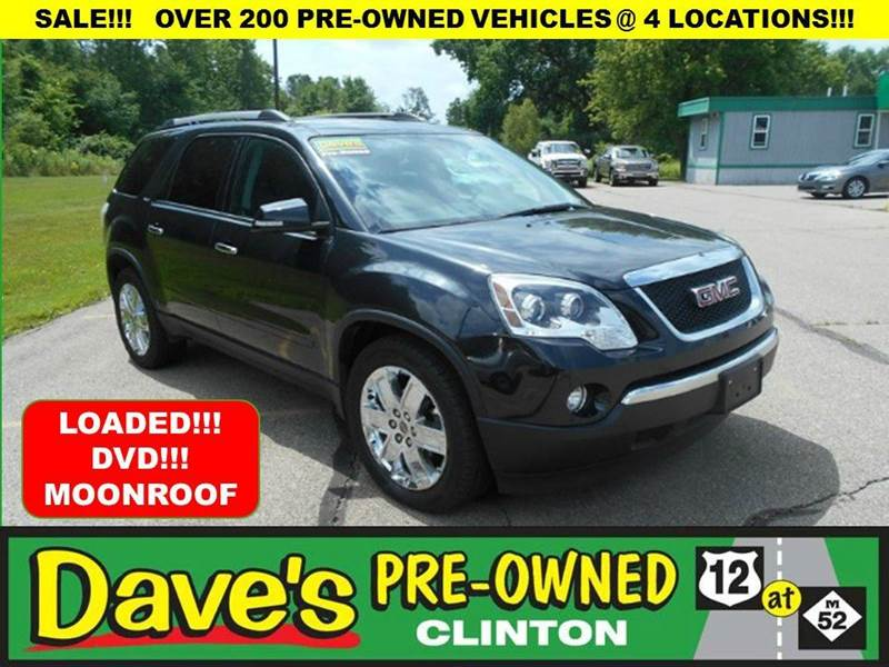 2010 GMC ACADIA SLT-2 AWD 4DR SUV black 3000 min for your trade is back for the month of july