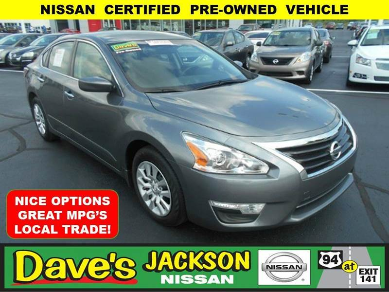 2014 NISSAN ALTIMA 25 S 4DR SEDAN gray 3000 push pull or drag reflected in the price listed