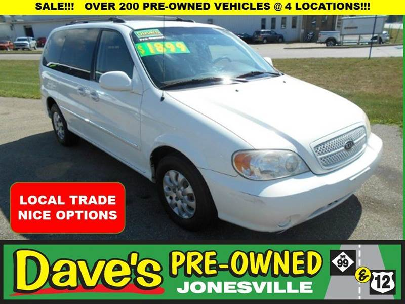 2005 KIA SEDONA EX 4DR MINI VAN white local trade  runs and drivesvery clean  call for details