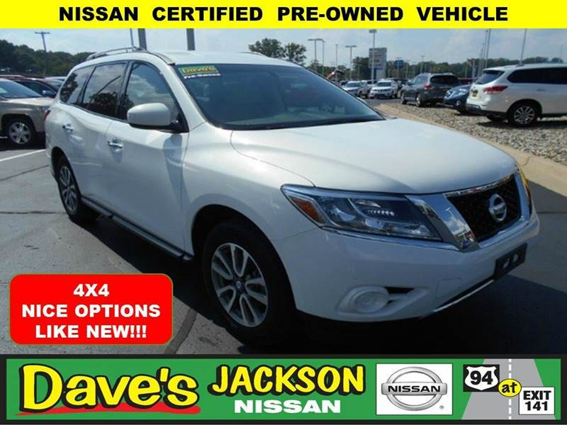 2013 NISSAN PATHFINDER SV 4X4 4DR SUV white 3000 push pull or drag reflected in the price listed