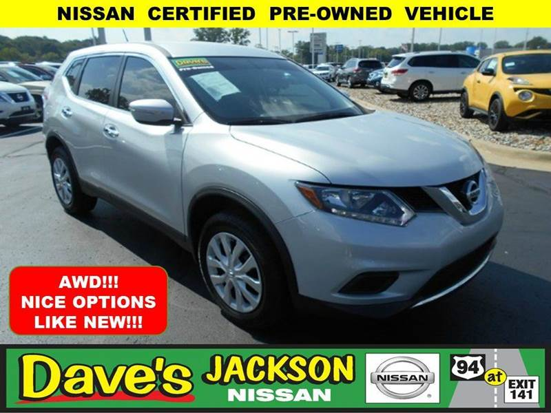 2015 NISSAN ROGUE S AWD 4DR CROSSOVER silver 3000 push pull or drag reflected in the price liste