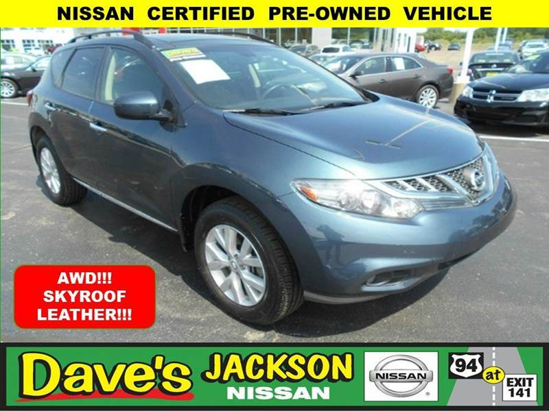 2012 NISSAN MURANO SL AWD 4DR SUV blue 3000 push pull or drag reflected in the price listed