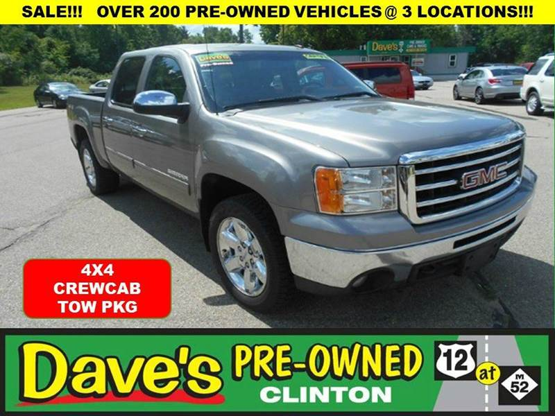 2013 GMC SIERRA 1500 SLE 4X4 4DR CREW CAB 58 FT SB gray price includes   3000 min for your tr