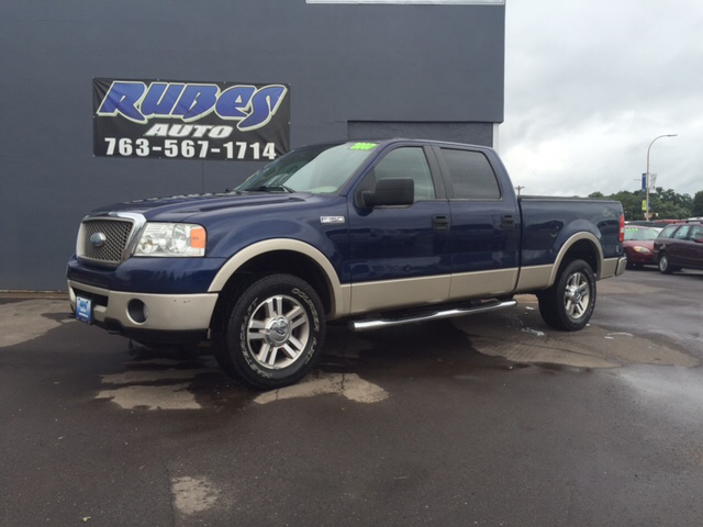 2007 ford f 150 lariat 4dr supercrew 4x4 styleside 6 5 ft sb in mora mn rubes auto. Black Bedroom Furniture Sets. Home Design Ideas