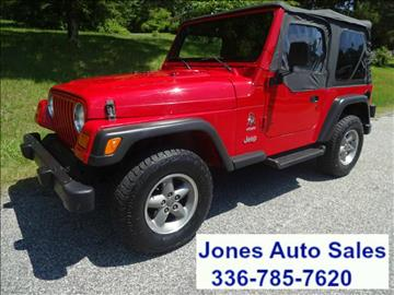 2001 Jeep Wrangler for sale in Winston Salem, NC