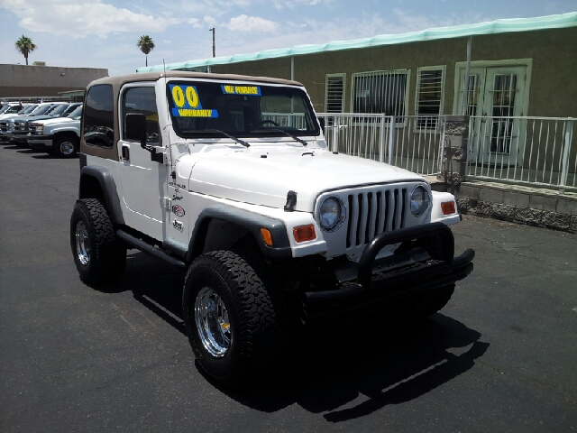 2000 JEEP WRANGLER SPORT white clean options list3 door convertible off road package short box