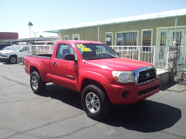 2005 TOYOTA TACOMA PRERUNNER 2DR STANDARD CAB RWD S red clean abs - 4-wheel axle ratio - 410 c