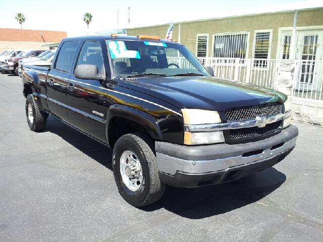 2003 CHEVROLET SILVERADO 1500HD LS 4DR CREW CAB RWD SB black clean abs - 4-wheel anti-theft syst