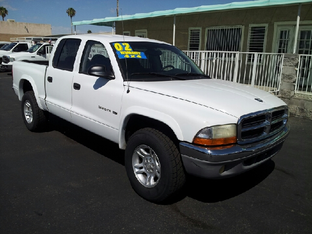 2002 DODGE DAKOTA SLT PLUS QUAD CAB 4WD white non smoker 148856 miles VIN 1B7HG48N22S510573