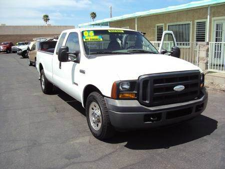 2006 FORD F250 LARIAT SUPERCAB 2WD white abs brakesair conditioningalloy wheelsamfm radioanti