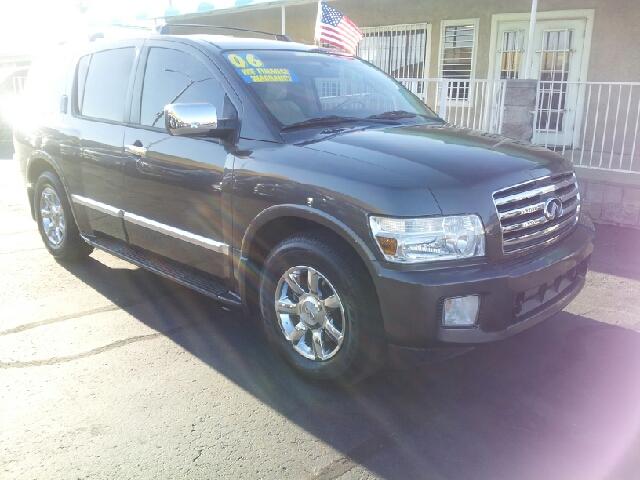 2006 INFINITI QX56 SE gray metallic clean 97593 miles VIN 5N3AA08A26N812106
