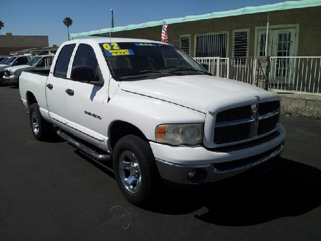 2002 DODGE RAM 1500 SLT PLUS QUAD CAB LONG BED 4WD white somebodys baby 142849 miles VIN 1D3