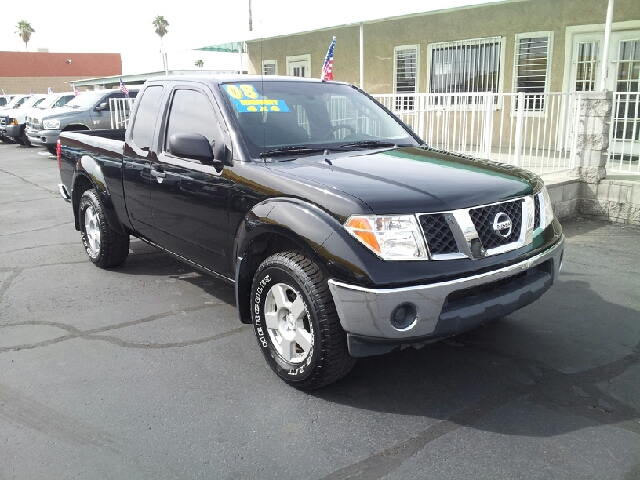 2008 NISSAN FRONTIER SE black clean air conditioning alarm alloy wheels amfm radio amfm radi