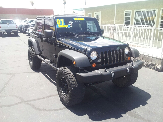 2007 JEEP WRANGLER UNLIMITED X 4DR SUV 4X4 black clean 4wd type - part time abs - 4-wheel airba