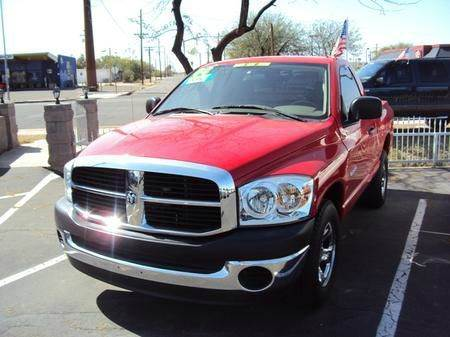 2008 DODGE RAM PICKUP 1500 ST 2WD red abs brakesair conditioningamfm radioanti-brake system
