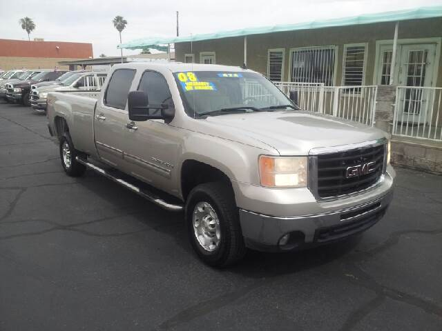2008 GMC SIERRA 2500HD SLE1 4WD 4DR CREW CAB LB silver clean as the board of health 4wd type - pa