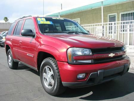 2004 CHEVROLET TRAILBLAZER LS 2WD red abs brakesair conditioningalloy wheelsamfm radioanti-br