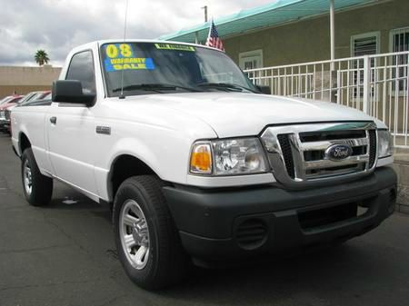 2008 FORD RANGER XL 2WD white abs brakesamfm radioanti-brake system 4-wheel absbody style re