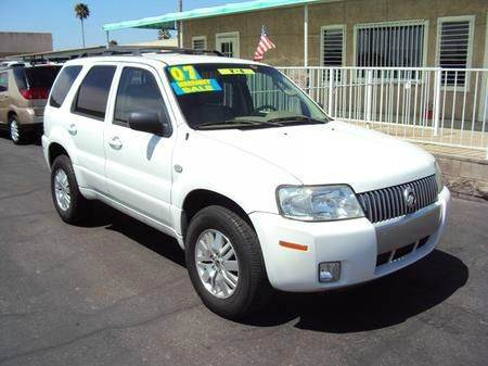2007 MERCURY MARINER PREMIER 2WD white abs brakesair conditioningalloy wheelsamfm radioanti-b