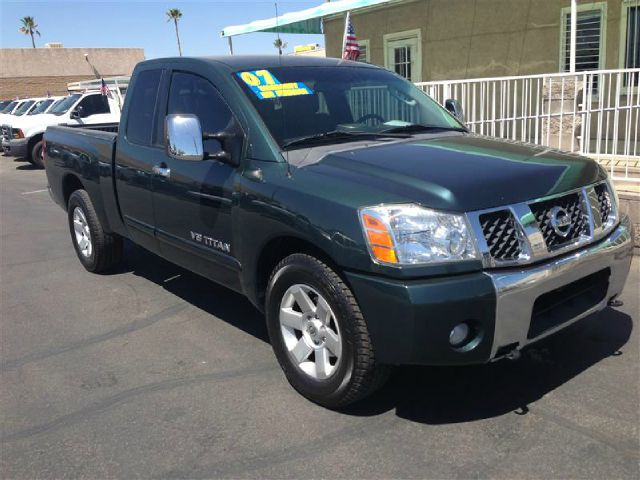2007 NISSAN TITAN LE KING CAB 2WD green abs brakesadjustable foot pedalsair conditioningalloy w