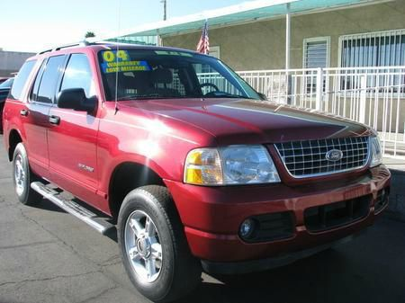 2004 FORD EXPLORER XLT 40L 2WD red abs brakesair conditioningalloy wheelsamfm radioanti-brak