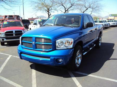 2007 DODGE RAM 1500 LARAMIE QUAD CAB 2WD blue abs brakesadjustable foot pedalsair conditioninga