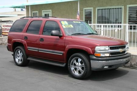 2004 CHEVROLET TAHOE 4WD red 4wdawdabs brakesair conditioningalloy wheelsamfm radioanti-bra