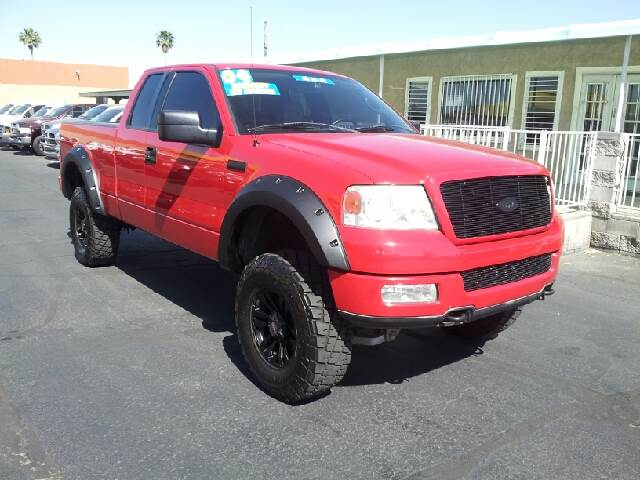 2004 FORD F-150 FX4 4DR SUPERCAB 4WD FLARESIDE 6 red clean abs - 4-wheel axle ratio - 355 cloc