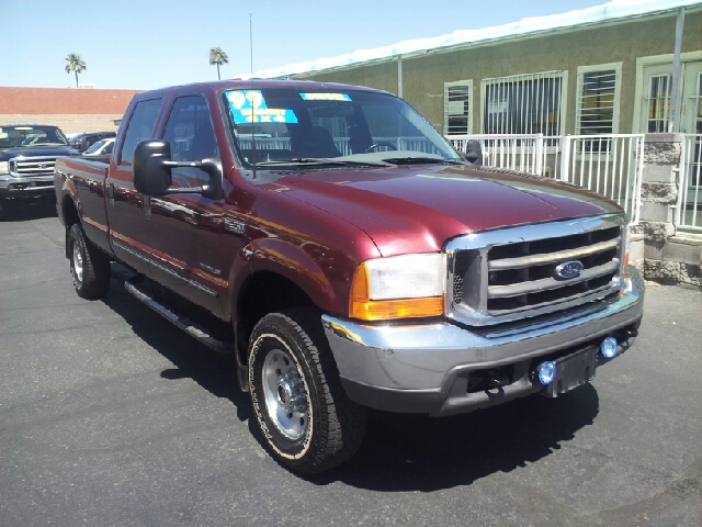 1999 FORD F-350 SUPER DUTY XLT 4DR 4WD CREW CAB LB ruby red clean 73 abs - rear cassette front