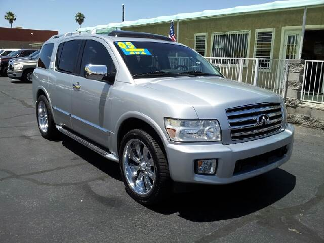 2005 INFINITI QX56 BASE 4WD 4DR SUV silver clean abs - 4-wheel adjustable pedals - power anti-t