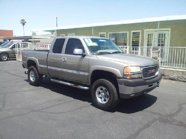 2002 GMC SIERRA 2500HD SLT 4DR EXTENDED CAB 4WD SB pewter clean abs - 4-wheel anti-theft system