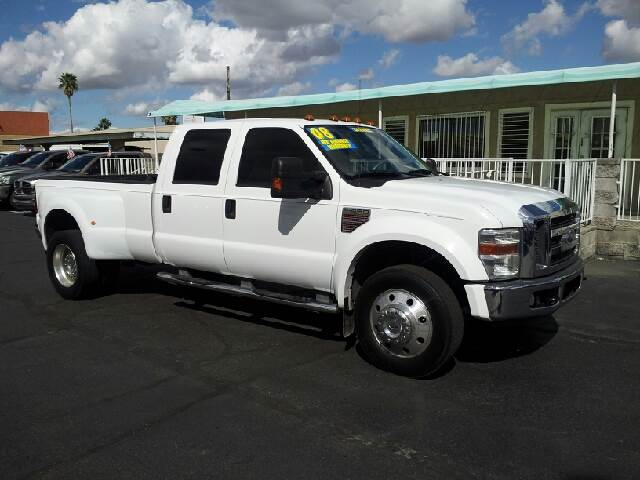 2008 FORD F-450 SUPER DUTY LARIAT 4DR CREW CAB LB DRW white clean 2-stage unlocking - remote abs