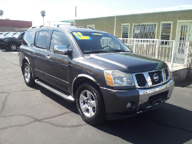 2004 NISSAN ARMADA LE 2WD gray abs brakesadjustable foot pedalsair conditioningalloy wheelsam