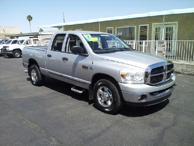 2007 DODGE RAM PICKUP 2500 SLT silver clean options list4 door crew cab short box 2 wheel driv