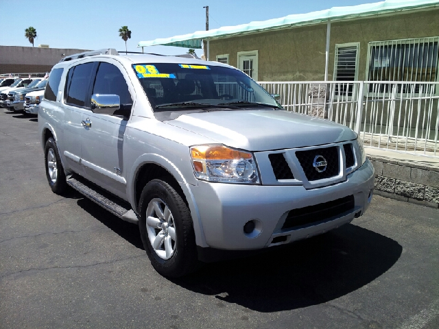2008 NISSAN ARMADA SE silver clean 4 door 2 wheel drive automatic woverdrive transmission alar