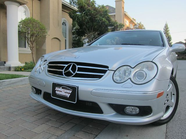 2004 MERCEDES-BENZ CLK-CLASS CLK500 COUPE AMG silver amg sport premium pkg excellent leather inte