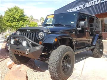 2012 Jeep Wrangler Unlimited for sale in Saint George, UT