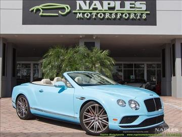 2016 Bentley Continental GTC V8 S for sale in Naples, FL
