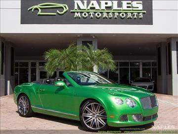 2014 Bentley Continental GT Speed for sale in Naples, FL