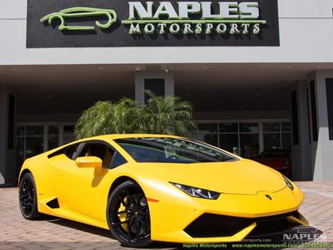 2015 Lamborghini Huracan for sale in Naples, FL
