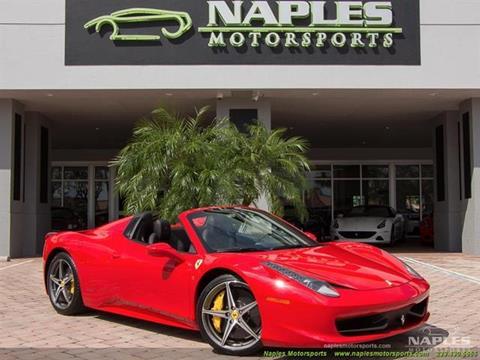 2015 Ferrari 458 Spider For Sale In Naples, FL