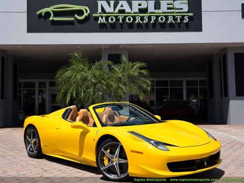 2014 Ferrari 458 Spider for sale in Naples, FL