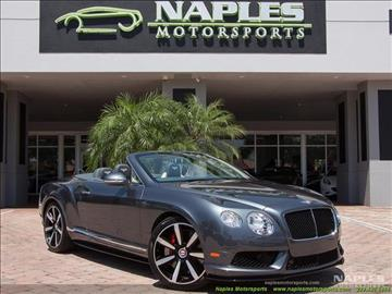 2014 Bentley Continental GTC V8 S for sale in Naples, FL