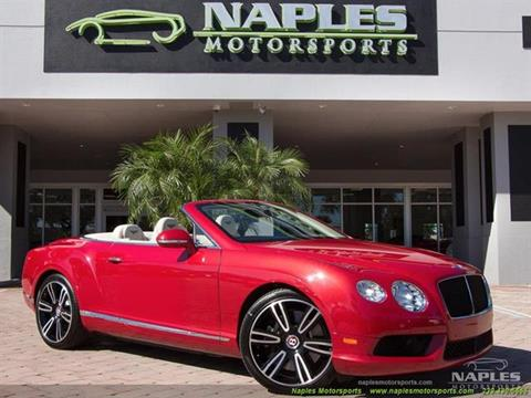2013 Bentley Continental GTC V8 for sale in Naples, FL