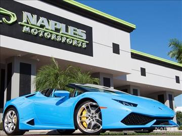 2016 Lamborghini Huracan for sale in Naples, FL