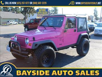 2003 Jeep Wrangler for sale in Everett, WA