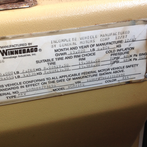1988 Winnebago Super Chief 31Ft Generator Wcm31Rq Class A - Colonial Heights VA