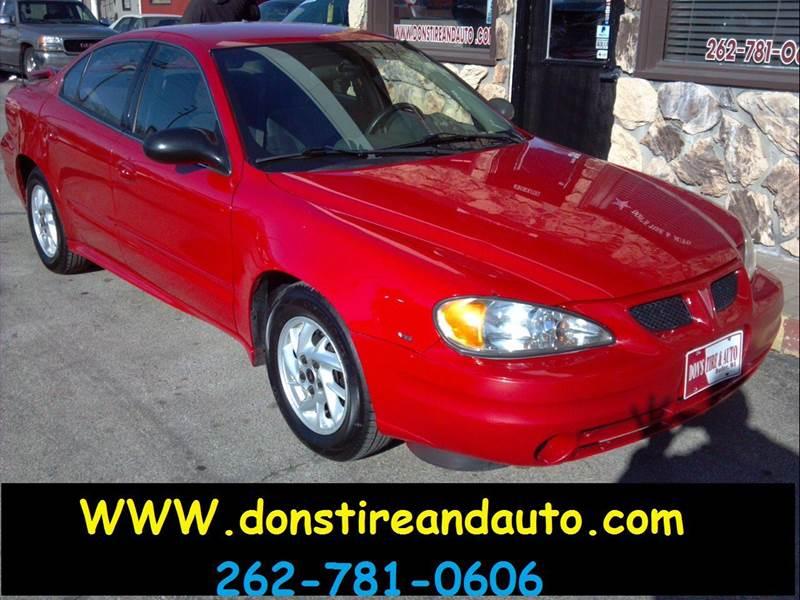 2004 pontiac grand am se1 4dr sedan in butler wi dons tire auto. Black Bedroom Furniture Sets. Home Design Ideas