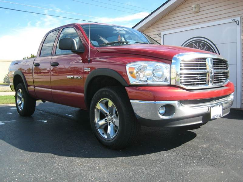2007 dodge ram pickup 1500 slt 4dr quad cab 4wd sb in escanaba mi hansen automotive storage. Black Bedroom Furniture Sets. Home Design Ideas